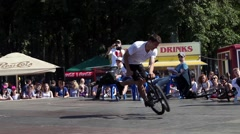 Extreme Bmx bike riders making tricks Stock Footage
