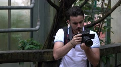 Photographer at The Zoo Stock Footage
