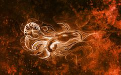 drawing of ornamental dragon on old paper background computer collage. and color - stock illustration