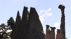 Earth Pyramids in the backlight Stock Footage