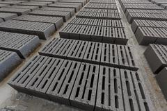 Stack of gray bricks Stock Photos