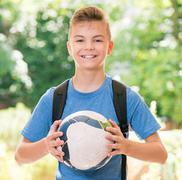 Boy back to school Stock Photos