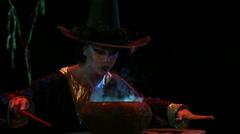 Beautiful fairy making magic with smoke Stock Footage