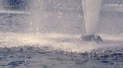 Water fountain in slow motion. Splashing streams of water fountain Stock Footage