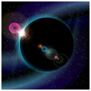 Eclipse of planet Stock Illustration