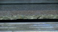 Polishing granite slabs on production Stock Footage
