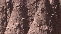 Detail of the porphyry rock of the Earth Pyramids Stock Footage