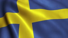 Sweden flag loop video animation 4K - stock footage