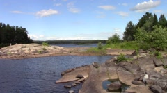 Algonquin Park lake and forest Stock Footage