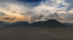 Sunset sky timelapse over mount Bromo volcano in Java, Indonesia Stock Footage