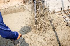 Cement for home building - stock photo