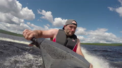 Having fun on the water - jet ski action on summer vacation Stock Footage