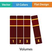 Books volumes icon - stock illustration