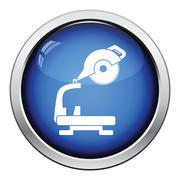 Icon of circular end saw - stock illustration