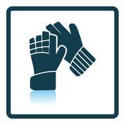 Icon of football   goalkeeper gloves - stock illustration