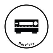 Home theater receiver icon - stock illustration