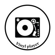 Vinyl player icon Piirros