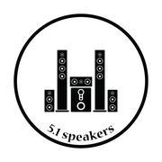 Audio system speakers icon Piirros