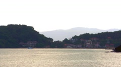 Andaman Sea. Resort Area. Sunset. 4K Stock Footage
