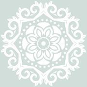 Floral Modern Round Frame Stock Illustration