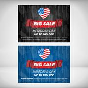 Memorial day sale - stock illustration