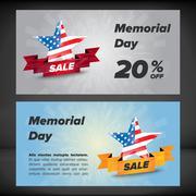 Memorial day banner - stock illustration