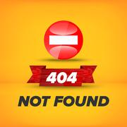 Not found sign - stock illustration