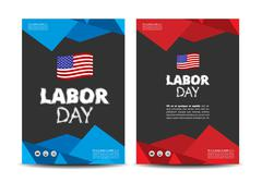 Labor day leaflet Stock Illustration