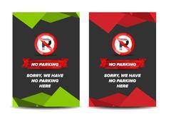 No parking leaflet - stock illustration