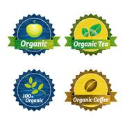 Organic food icons Stock Illustration
