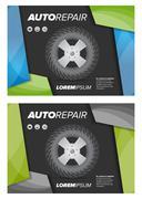 Auto repair shop flayer Stock Illustration
