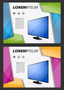 Flayer template with LED TV Stock Illustration