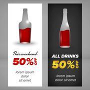 Alcohol banner design - stock illustration