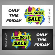 Super sale banner Stock Illustration