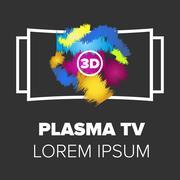 Plasma TV icon Stock Illustration