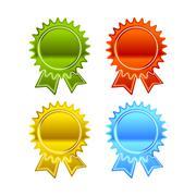 Award icon set - stock illustration