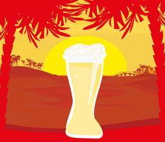 cold beer design - stock illustration