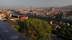 Pano of Florence view from Piazzale Michelangelo, Tuscany Italy - stock footage