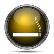 Cigarette icon. Internet button on white background.. - stock illustration