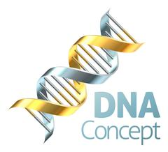 Double Helix DNA Genetics Strand Concept Stock Illustration
