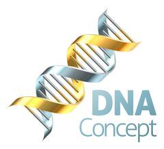 Double Helix DNA Genetics Strand Concept - stock illustration