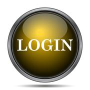 Login icon. Internet button on white background.. - stock illustration
