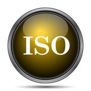 ISO icon. Internet button on white background.. Stock Illustration