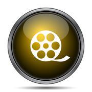 Video icon. Internet button on white background.. - stock illustration