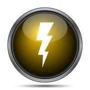 Lightning icon. Internet button on white background.. - stock illustration