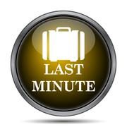 Last minute icon. Internet button on white background.. Stock Illustration
