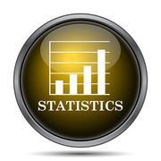Statistics icon. Internet button on white background.. - stock illustration