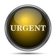 Urgent icon. Internet button on white background.. Stock Illustration
