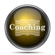 Coaching icon. Internet button on white background.. Stock Illustration