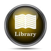 Library icon. Internet button on white background.. - stock illustration